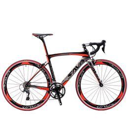 Wholesale Complete Bike Road - SAVA 700C Carbon Fiber Road Bike Complete Bicycle Carbon Cycling BICICLETTA Road Bike SORA M3000 18 Speed Bicicleta