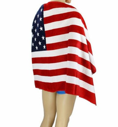 Wholesale Towel Fabrics - New High Quality American Flag Design Bath Towel 140x70cm big towel Drying Washcloth Beach Towel