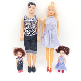 Wholesale Kawaii Fashion Baby - Dolls Family 4Pcs Set Happy Family Pack Removable Joints Ken Prince Baby Doll Boyfriend Toy Xmas Gifts Kawaii Playmate For Kids