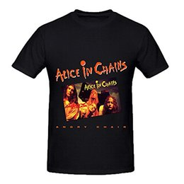Wholesale T Shirt Chain - Short Sleeves 100% Cotton Alice In Chains Angry Chair Funk Mens O Neck Short Sleeve T Shirts