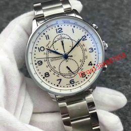 Deutschland Luxus Herrenuhr Brown Tachymeter Datum Leder Sport automatische Armbanduhr Mode Edelstahl Schweizer Herrenuhren Relogio Masculino cheap leather tachymeter watch Versorgung
