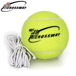 Wholesale Tennis Balls Elastic - Wholesale- CROSSWAY Tennis Balls High Quality Durable Belt With A Rubber Band Training Practice Ball Elastic Rope Tennis Balls Trainer