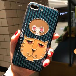 Wholesale Iphone Lion Cases - Cartoon Lion Cat Fish Flowers Phone Case 6 6s 7 Plus Super case For iphone 7