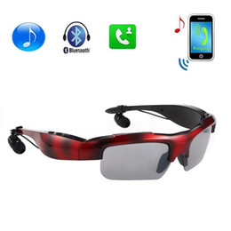 Wholesale Glasses For Motorcycles - 2017 Wireless Motorcycle Bluetooth Sunglasses Sun Glasses Music Headsets Headphones for IOS Abdroid Bluetooth Devices