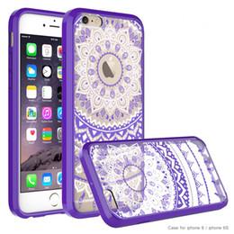 Canada Mandala Flower Slim Case pour Iphone 6 / 6s Acrylique + PC Haute Qualité À La Mode Dirt-résistant Fitted Cas Hot Vente Produits Offre