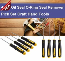 Wholesale Hand Ring Set - 4Pcs Set Durable Car Hook Oil Seal O-Ring Seal Remover Pick Set Craft Hand Tools Free Shipping