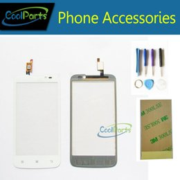 Wholesale Lenovo A516 - Wholesale- Black Whtie Color Cell Phone Replacement Parts For Lenovo A516 Touch Screen Touch Digitizer With Tools+3M Adhesive Tape 1PC Lot