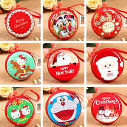 милый свадебный пакет Скидка Рождественская сумка наушники коробка милый свадебный подарок пакет монет кошельки Рождественский подарок бумажник для женщин и детей IC715
