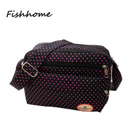 Wholesale Polka Dot Cross Body - Wholesale-2016 Fashion Korean nylon canvas women messenger bag Female casual Polka Dot canvas shoulder diagonal small bag DYC189