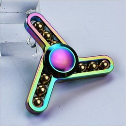 Wholesale toy factory wholesale - 2017 factory Outlet Rainbow Lightning Hand Spinner Toy perfect alloy fingger spinner for ADD,ADHD,Anxiety ,stress relief and boredom