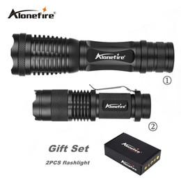 Wholesale hunting led headlight - AloneFire gift box E007+SK68 High Powered Tactical Flashlight Ultra Bright LED Handheld Flashlight Portable Outdoor Headlight