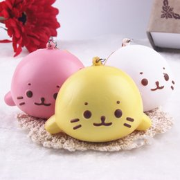 Wholesale Latex Baby Toys - Charming Squishy Baby Dolphin Super Soft Slow Rising Cream Scented Kid Toy E00698