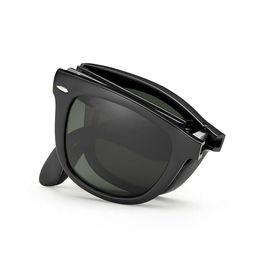 Occhiali da sole pieghevoli all'ingrosso online-Wholesale- VIAHDA 2016 classic fold Occhiali da sole per uomo donna Cool Oval Polarized UV400 Driving hot brand new Occhiali da sole cool oculos de sol