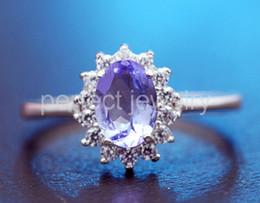 Wholesale Natural Blue Tanzanite - Natural tanzanite ring Free shipping Natural and real tanzanite 925 sterling silver Fine blue gem jewelry 0.9CT gem