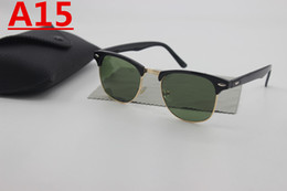 Wholesale Red Definition - Brand Designer High Quality Semi-Frame Gold Sunglasses Men's Fashion High Definition Glass Lens PC Frame Sunglasses