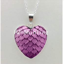 Nuevo huevo de dragón Corazón colgante de cristal Juego de Tronos del corazón de joyería de plata en forma de corazón collares NHT - 0037 desde fabricantes