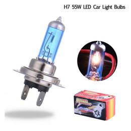 Wholesale H7 55w Halogen Bulb White - Free DHL H7 55W 12V Halogen Bulb Super Xenon White Fog Lights High Power Car Headlight Lamp Car Light Source parking 6000K