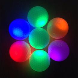 brilhando bolas noite luz Desconto Atacado- 2016 New 1Pcs Light-up Flashing Night Light Fluorescência Glowing Golf Balls Golfing Atacado