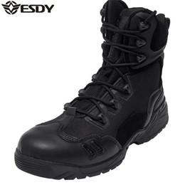 EE. UU. Ejército de Los Hombres Al Aire Libre Genuino de Cuero de Grano Completo Tácticas del Desierto Botas de Combate Hombres Botas Tácticas Botas Hombre Chaussures al aire libre desde fabricantes