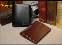 Wholesale Vintage Style Folders - New male suit folder short design wallet classic luxury man bag card holder The man's wallet