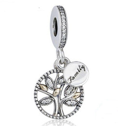 Wholesale Family Fit - 925 Sterling Silver Family Lucky Wish Tree Charm Love Bead Fit for European Pandora charm Bracelet