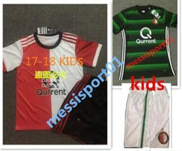 Wholesale Boys Football Jersey Xl - top thai 2017 2018 new Feyenoord kids kit home red soccer jerseys children football shirts 17-18 boys youth shirt kits free shipping