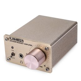 Wholesale Audio Power Line - LINES A910 Mini Portable Audio Computer Stereo Headphone Amplifier with Aluminum Alloy Case and High-End Control System
