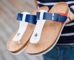 sandali di sughero marrone Sconti 2017 Moda Estate stile Donna moda pantofole da appartamento Lovers Cork Beach Sandali Infradito di alta qualità Nero, marrone