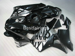 Wholesale Injection Molded - Injection molded fairings for Honda CBR600RR 03 04 silver black fairing kit CBR600RR 2003 2004 RT13