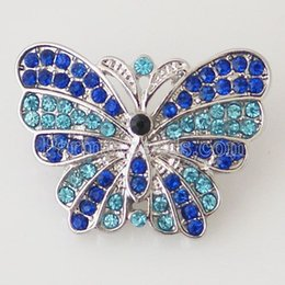 Wholesale Button Bracelet Craft - Wholesale-bijoux momory craft 20mm Butterfly snaps for button jewelry factory button bracelets and Clasps jewelry KB7046