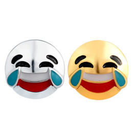 Wholesale smile face button - Fashion Interesting Cute New Arrival DIY 18mm Interchangeable Chunky Snaps Happy Kiss Smiling Face Emoji Snaps Button for Snaps Jewelry