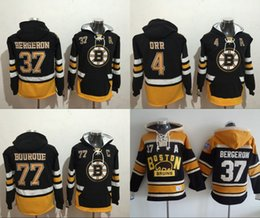 Canada Old Time Hockey 2017 Hiver Classique Boston Bruins 4 Bobby Orr 33 Zdeno Chara 37 Patrice Bergeron 77 Ray Bourque Sweats supplier rays hoodie Offre