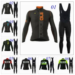 Wholesale Cycling Sleeves Winter Wear - Ale 2017 New Cycling Jerseys Long Sleeve Autumn None Fleece Winter Thermal Bicycle Clothing Ropa Ciclismo Bib Sports Wear XS-4XL 8 Styles