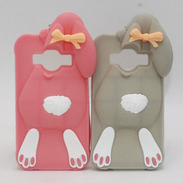 Wholesale 3d Case For Galaxy Ace - High Quality Soft Silicon Case For Samsung Galaxy J1 J120 J120F J1 ACE J110F J3 Back Cover 3D Cartoon Cute Buck-Toothed Rabbit Phone Housing