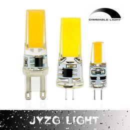 Wholesale G4 Dimmer - 2017 LED G4 G9 Lamp Bulb AC DC Dimming 12V 85V-265V 6W 9W COB SMD LED Lighting Lights replace Halogen Spotlight Chandelier