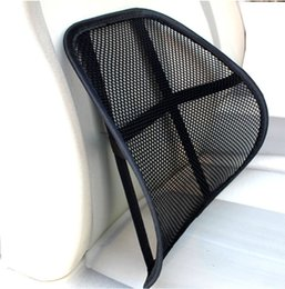 Wholesale Car Seat Lumbar Pillow - Cool & Breathable Mesh Support - Lumbar Support Cushion Seat Back Muscle Car Home Office Chair Pain Relief Travel