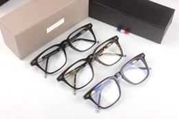 Wholesale Blue Prescription Glasses - Men Women Optical acetate prescription spectacle Square Thom tb402 TB-402 Myopia Eye glasses Frame Eyeglasses TB-402A eyewear