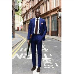 Wholesale Coat Tie For Men - Wholesale- Royal Blue Men Tuxedo 2016 New Arrival Lastest Coat Pant Costume Mariage Homme Wedding Suits For Men (Jacket+Pants+Tie)