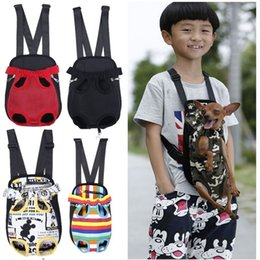 Wholesale large cat tote bag - Pet Carrier Dog Front Chest Backpack Five Holes Backpack Dog Outdoor Carrier Tote Bag Sling Holder Mesh Cat Puppy Dog Carrier