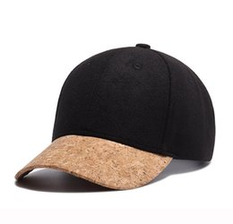 Wholesale Woollen Caps Men - Fashion Adjustable Baseball Cap Snapback Hats Solid Color Woollen Baseball Cap for Men Women Brand Sports Hip Hop Flat Sun Hat W713