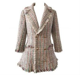 Wholesale Ladies Velvet Suits - Women Winter Woven velvet sexy OL ladies boutique tassel Luxury famous fashion brand Retro Thick Ladies Slim thin suit jacket