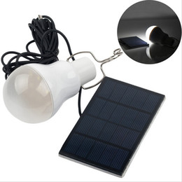 Luci a tenda a energia solare online-15W 130LM Portable Solar Power LED Lampada a bulbo Pannello solare Applicabile Illuminazione esterna Tenda da campeggio Lampada da giardino Luce