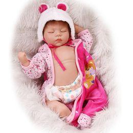 Wholesale Reborn Baby Girl Sleeping - Wholesale- NPK 22inch Silicone New Reborn Baby Dolls Realistic Sleeping Girl reborn Babies bonecas Kids Toys