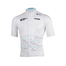 Wholesale Shirt 3d Drying - 2017 new team sky tour de france white cycling jerseys summer Bicycle maillot breathable MTB Short sleeve quick dry bike cloth 3D GEL