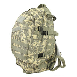 Wholesale Wholesale Camping Backpacks - Hot Unisex Sports Outdoors Molle 3d Military Tactical Backpack Rucksack Bag Camping Traveling Hiking Trekking 40L Free DHL Fedex