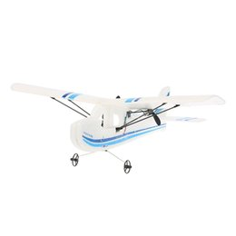 Wholesale Airplane Cessna - Wholesale- Mini Original Volantex RC TW-781 Cessna 2.4G 2CH RC Airplane 200mm Wingspan EPP Infrared Remote Control Indoor Drone Aircraft