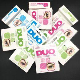 Wholesale Double Eyelash Brushes - New Arrival DUO Eyelash Adhesives Eye Lash Glue Double Eyelids Glue brush-on Adhesives Vitamins White Clear Black 5g Makeup Tool 3001062