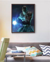 Wholesale ball poster - Single Unframed Kame-sennin Dragon Ball Power Anime Poster Painting On Canvas Giclee Wall Art Painting Art Picture For Home Decor