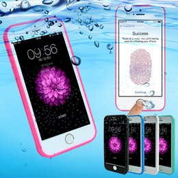 Wholesale Iphone Waterproof Swimming - Waterproof case for iPhone 8 7 Plus 6S soft TPU 360 Degree touch screen case For iPhone 6 Plus 6S Plus Swimming Cases