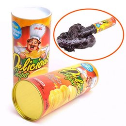 Wholesale Kids Spring Toy - Fun Joke Toys Funny Potato Chip Can Jump Spring Snake Toy Gift April Fool Day Halloween Party Decoration Jokes Prank Trick